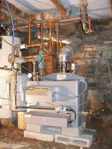A LAARS high efficiency, commercial gas boiler.