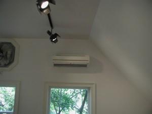 Fujitsu mini-split indoor AC unit.